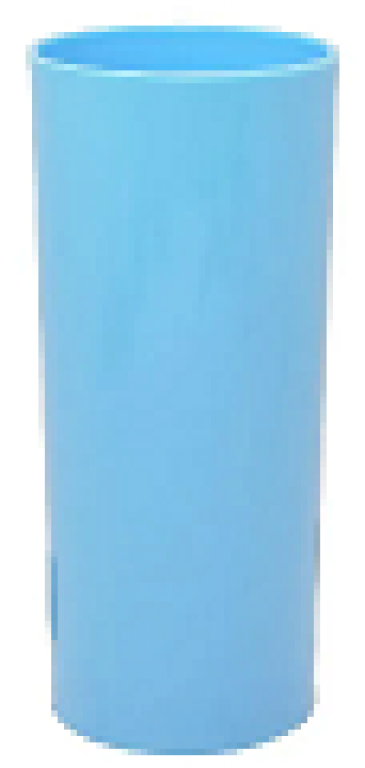 JE PLAFER - COPO LONG DRINK 310ML AZUL BB - CX.46UN