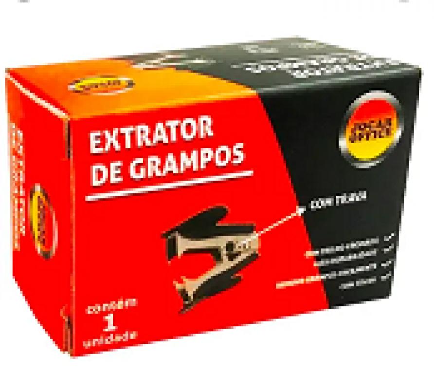 JOCAR OFFICE - EXTRATOR DE GRAMPOS C/ TRAVA - CX.24UN