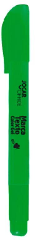 JOCAR OFFICE - MARCA TEXTO GEL VERDE - CX.12UN