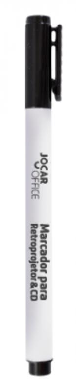 JOCAR OFFICE - MARCADOR CD/RETROPROJETOR PONTA 2MM PRETO - UN