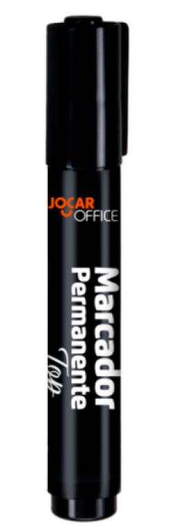 JOCAR OFFICE - MARCADOR PERMAN. PONTA CHAFRANDA TOP PRETA - CX.12UN