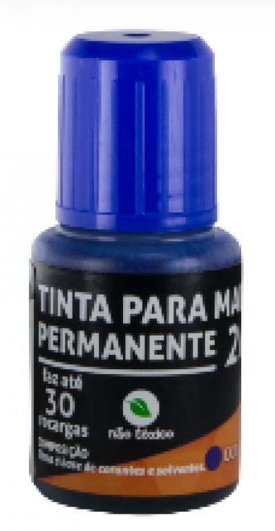 JOCAR OFFICE - TINTA PARA MARCADOR PERMANENTE 20ML AZUL - CX.12UN