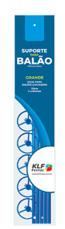 KLF - KIT SUPORTE P/ BALAO GRANDE 50CM AZUL FRANCA - PT.05UN