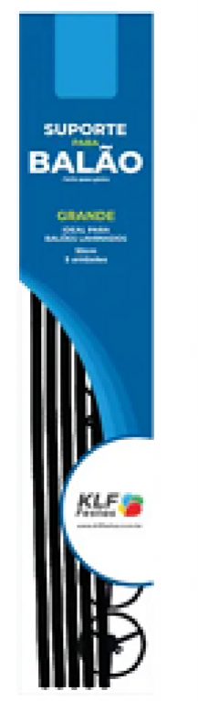 KLF - KIT SUPORTE P/ BALAO GRANDE 50CM PRETO - PT.05UN
