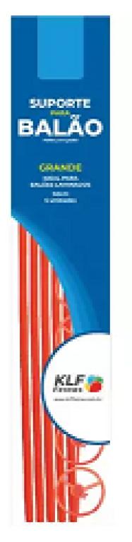 KLF - KIT SUPORTE P/ BALAO GRANDE 50CM VERMELHO - PT.05UN