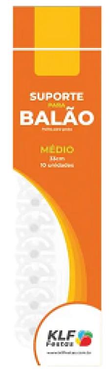 KLF - KIT SUPORTE P/ BALAO MEDIO 33CM BRANCO - PT.10UN