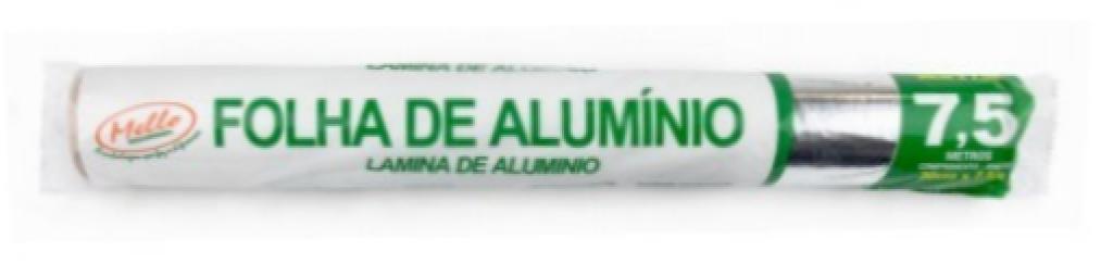 MELLO - ROLO DE ALUMINIO 30CM X 7,5MT - CX.25RL