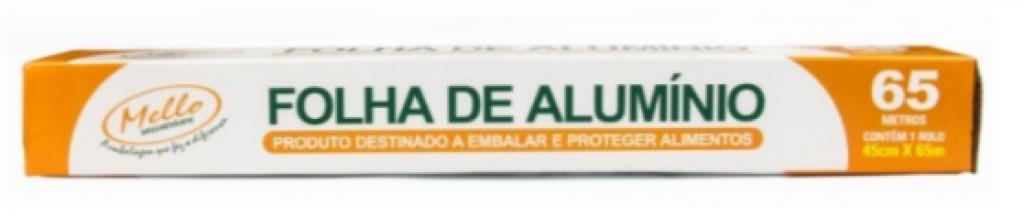 MELLO - ROLO DE ALUMINIO 45CM X 65MT - CX.06RL