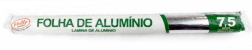 MELLO - ROLO DE ALUMINIO 45CM X 7,5MT - CX.25RL