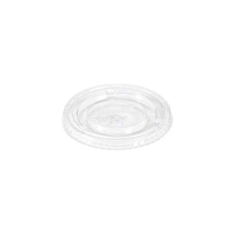 MONOUSO - TAMPA PLANA PLASTICA COM FURO 98MM - CX.20X50UN