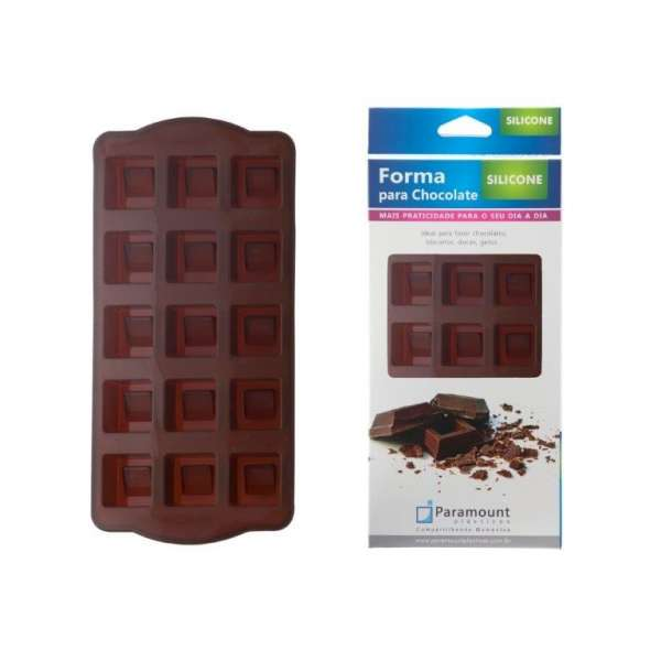 PARAMOUNT - FORMA P/ CHOCOLATE SILICONE - UN [F. LINHA]
