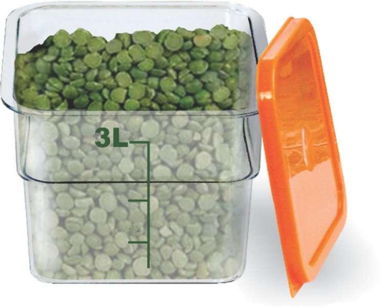 PLASTICOMM - ORGANIZADOR BOX 3 LTS QUADRADO TRANSPARENTE