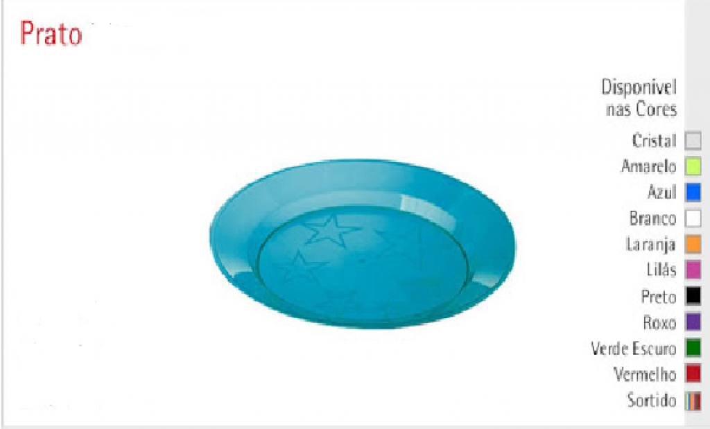 PLASTILANIA - PRATO PIP-018 LIMAO - CX.30X10UN