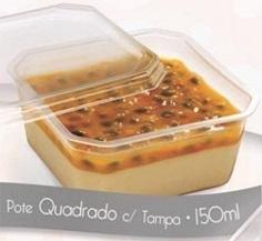 PRAFESTA - POTE QUADRADO 150 ML COM TAMPA - CX.15X20UN