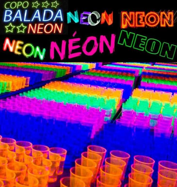 RIOPLASTIC - COPO BALADA NEON AZUL 330ML - CX.20X25UN