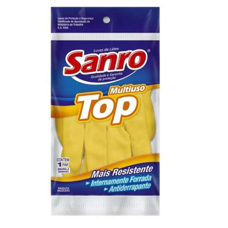 SANRO - LUVA TOP FORRADA AMARELA - P