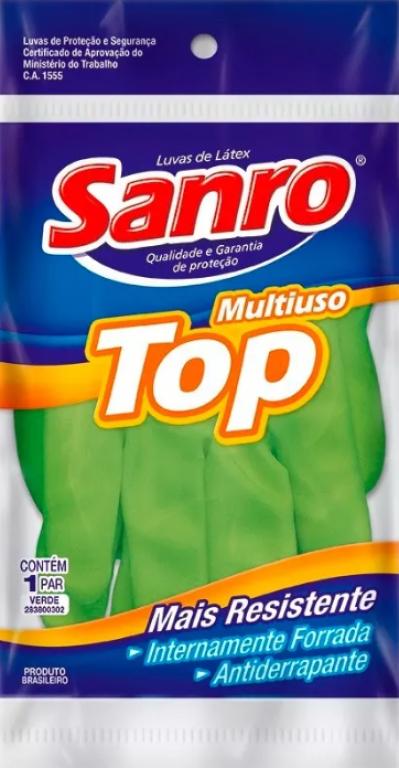 SANRO - LUVA TOP FORRADA VERDE - M