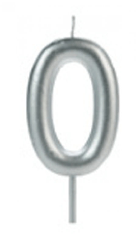 SILVER PLASTIC - VELA BIG METALIZADA PRATA N.0 - CX.12UN