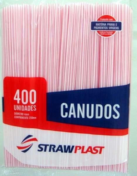 STRAW - CANUDO COMUM VERMELHO 04MM (CC-001) - CX.15X400UN