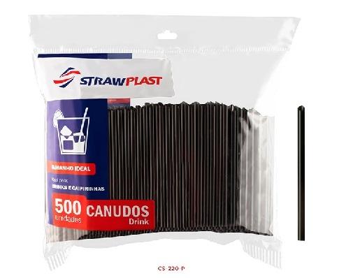 STRAW - CANUDO DRINK VERMELHO (CS-220) - CX.08X500UN