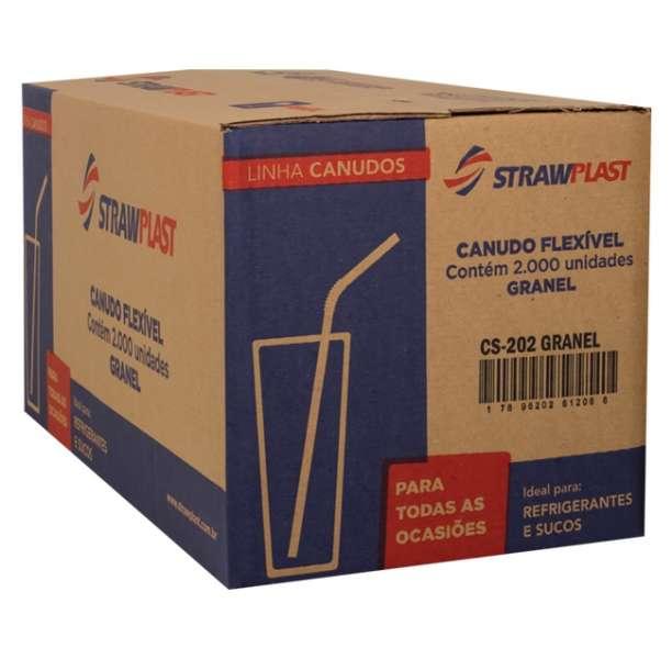 STRAW - CANUDO FLEX VERMELHO 06MM (CS-202) GRANEL - CX.2000UN