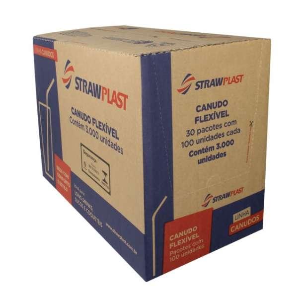 STRAW - CANUDO FLEX VERMELHO 06MM (CS-210) - CX.30X100UN