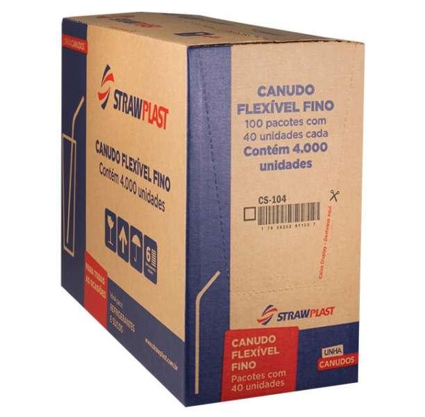 STRAW - CANUDO FLEX VERMELHO 4,7MM (CS-104) - CX 100X40UN