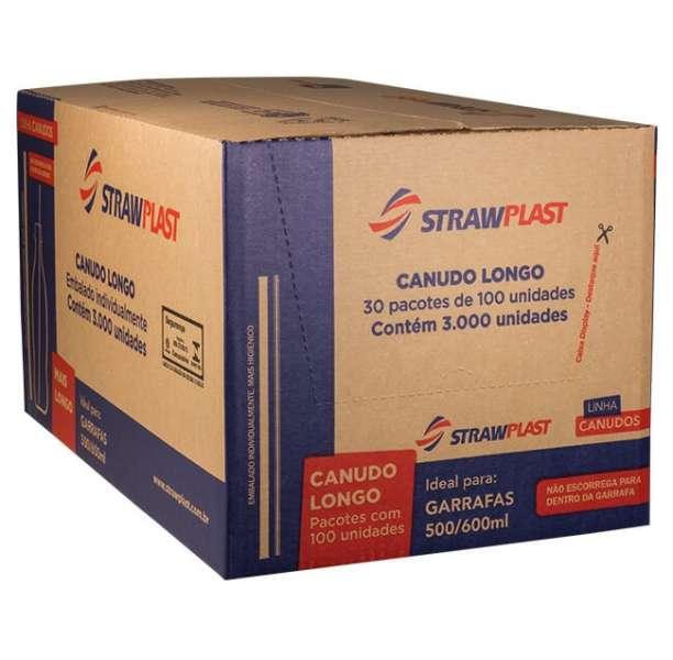 STRAW - CANUDO LONG SACHE VERMELHO 05MM (CS-307) GRANEL - CX.3000UN