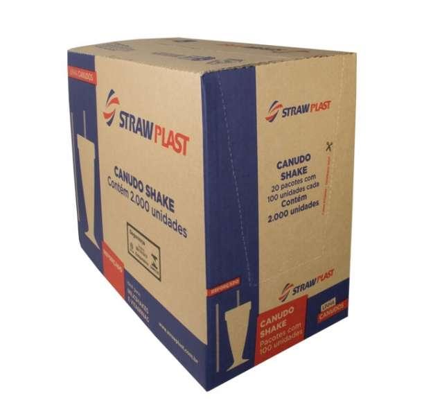 STRAW - CANUDO SHAKE VERMELHO 08MM (CM-1000) - CX.20X100UN