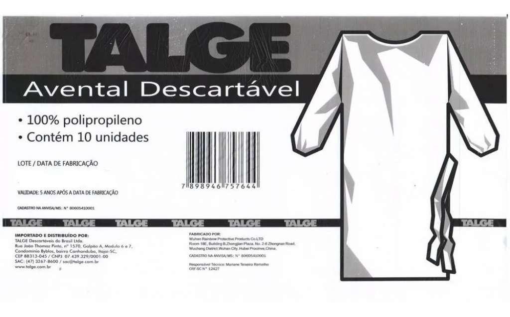 TALGE - AVENTAL DE TNT - PT.10
