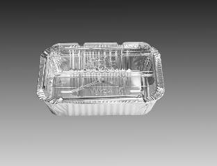 WYDA - BANDEJA ALUMINIO D6FS 500 ML TAMPA PET (165X124X43) - CX.50UN