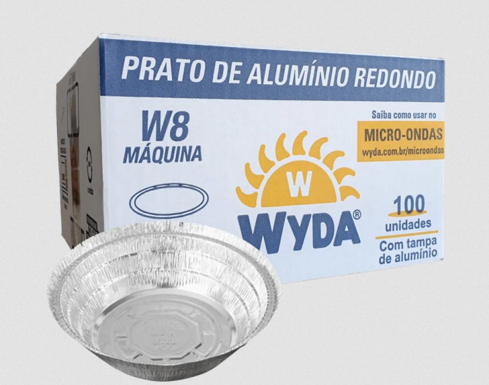 WYDA - MARMITEX ALUMINIO W8 MAQUINA 850 ML (215X45) - CX.100UN
