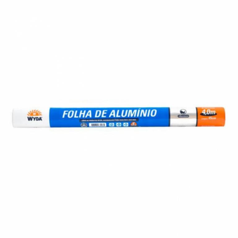 WYDA - ROLO ALUMINIO 45CM X 4M (R45X4.0) - CX.25UN