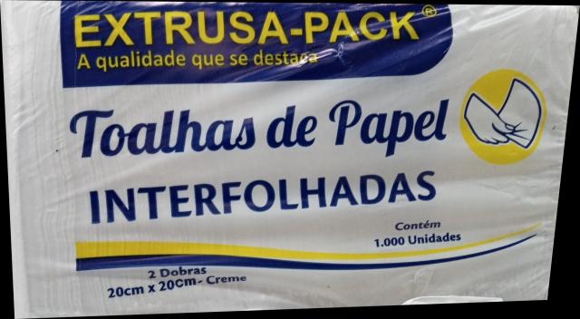MP - TOALHA INTERFOLHA EXTRUSA CREME 20X20 - PT.1000FLS
