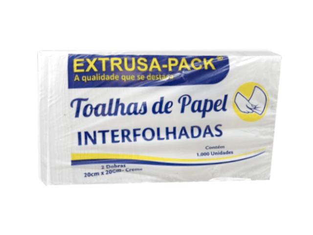 PAPEL TOALHA INTERFOLHA EXTRUSA 20X20 - PT.1000FLS