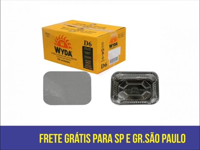 WYDA - BANDEJA ALUMINIO COM TAMPA CARTAO 500ML (D-06) - CX.50UN